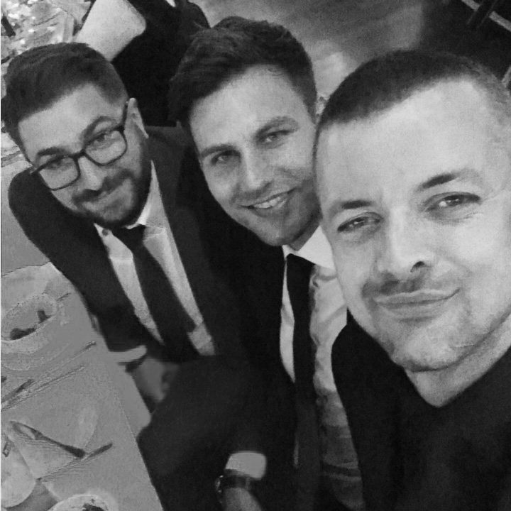 Daniel Bapty and Mike Dyble from Dybles Estate Agents with Jake Sanders from Think Creative at the Winchester Business Excellence Awards 2017