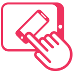 responsive website icon pink