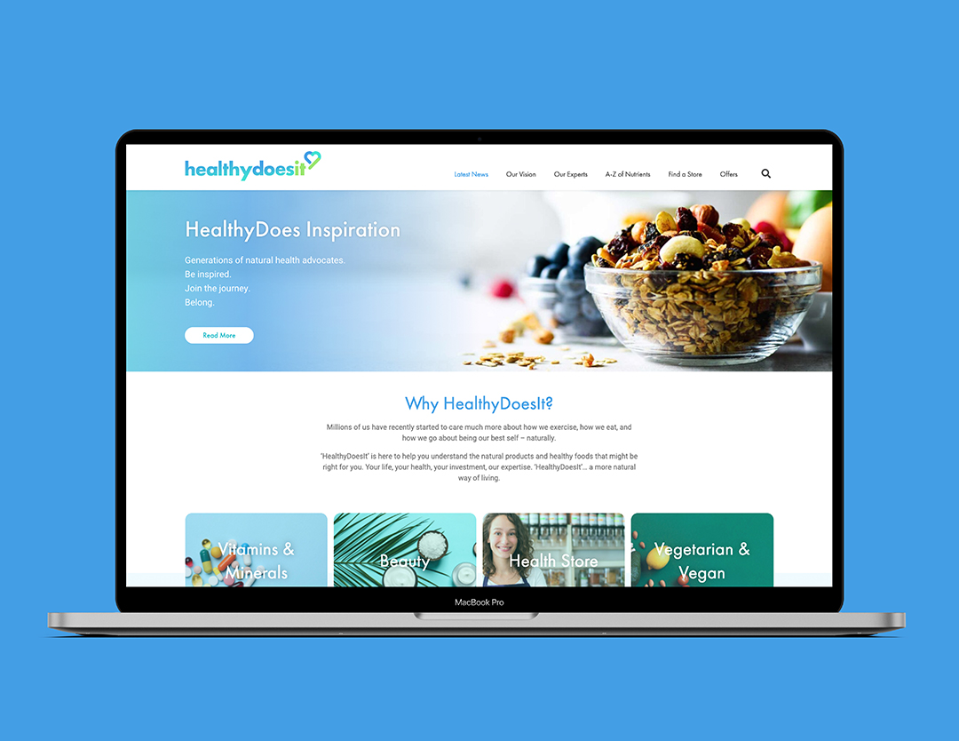macbook showcasing the healthy does it homepage
