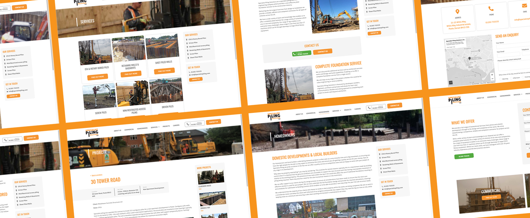 specialist piling solutions website pages