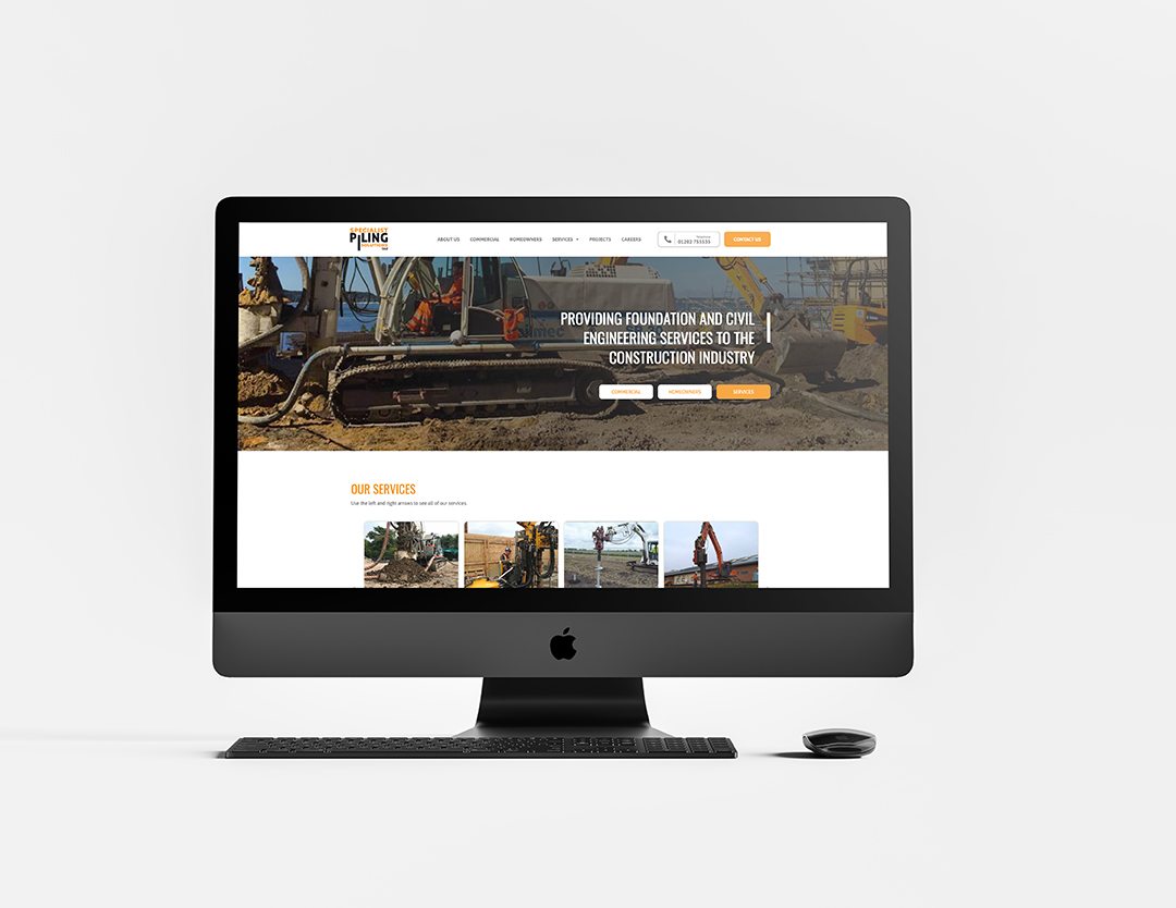 Imac with the specialist piling solutions website