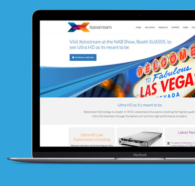 Xylostream datasheets, exhibition graphics and website design